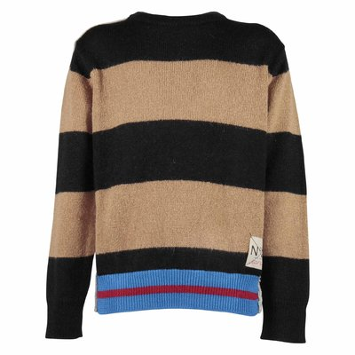 Multicolor wool blend knit jumper