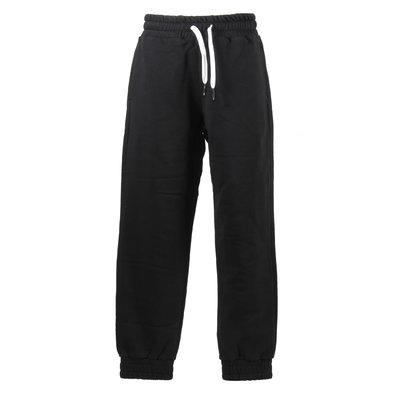 Black logo detail cotton sweatpants
