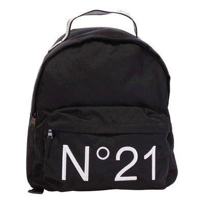 N°21 black logo detail nylon backpack