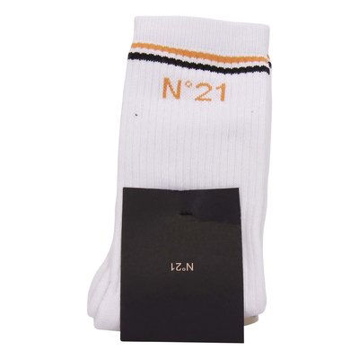 N° 21 white classic cotton blend socks