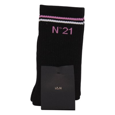 N° 21 black classic cotton blend socks