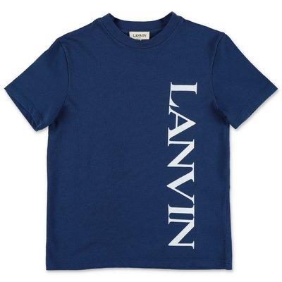 Lanvin t-shirt blu in jersey di cotone