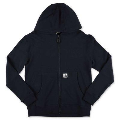 LANVIN navy blue cotton hoodie