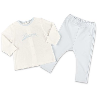 Lanvin white cotton jersey t-shirt & ligt blue pants set