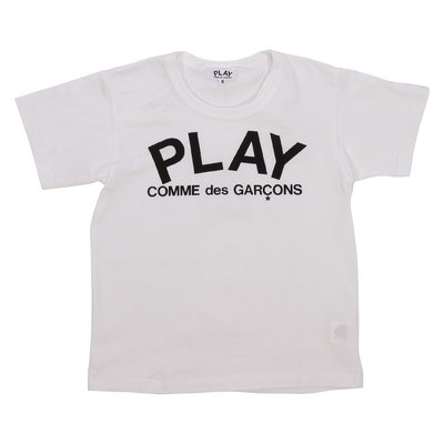 Comme des Garçons play white cotton jersey t-shirt