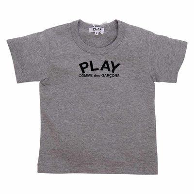 Comme des Garçons play t-shirt grigio melange in jersey di cotone