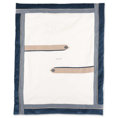 Modì white cotton chenille removable blanket