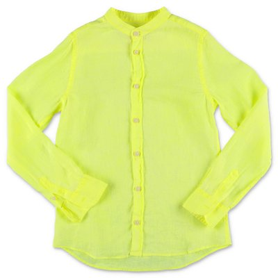 MC2 Saint Barth camicia giallo fluo in lino