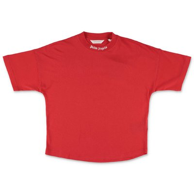 PALM ANGELS t-shirt rossa in jersey di cotone
