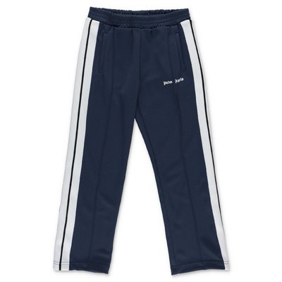 PALM ANGELS pantaloni blu in techno tessuto