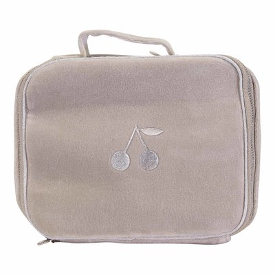 Beige cotton airport changing bag