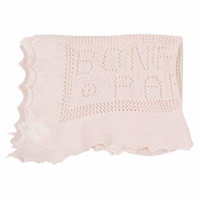 Copertina rosa profumata in cotone e lana