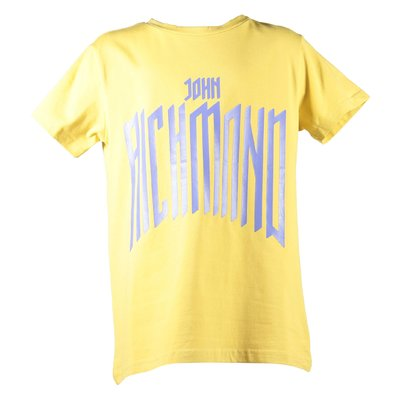Mustard yellow logo cotton jersey
