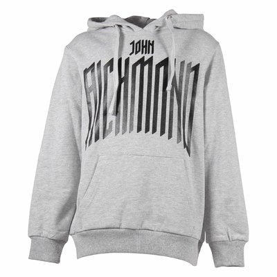 Grey cotton sweatshirt hoodie
