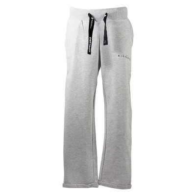 Melange grey cotton sweatpants