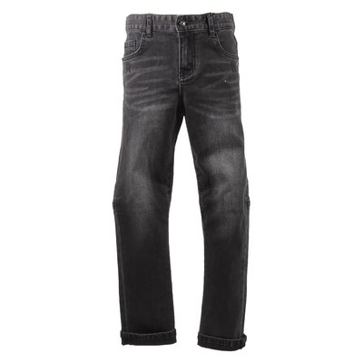 Black stretch denim cotton vintage effect  jeans