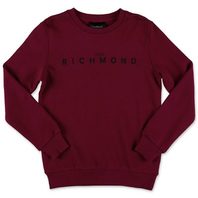 John Richmond felpa bordeaux in cotone