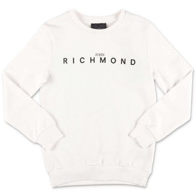 John Richmond white cotton sweatshirt