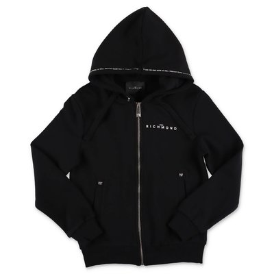 John Richmond black cotton hoodie