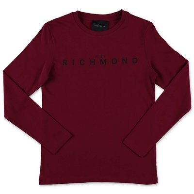 John Richmond burgundy cotton jersey t-shirt