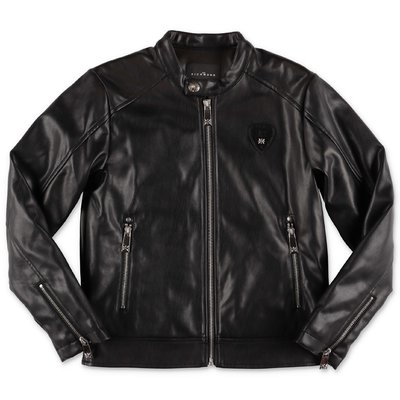 John Richmond black faux leather jacket