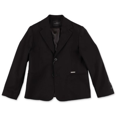 John Richmond black techno fabric jacket