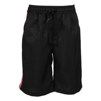 Black techno shorts