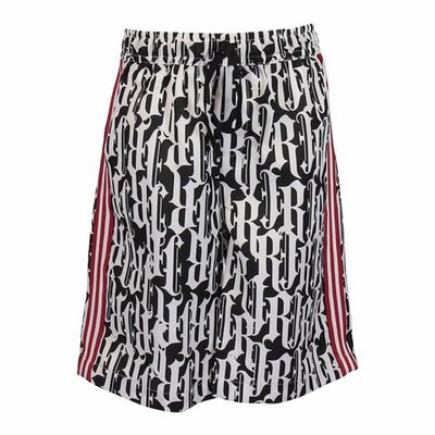 Printed techno fabric shorts