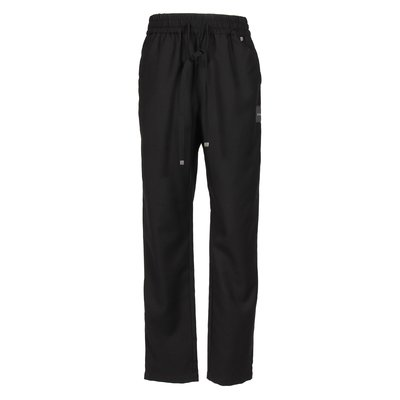 Black techno fabric pants