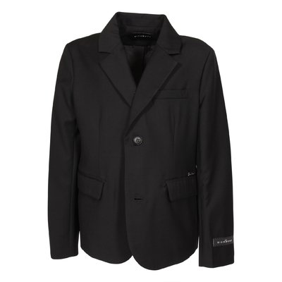 Black viscose blend elegant jacket