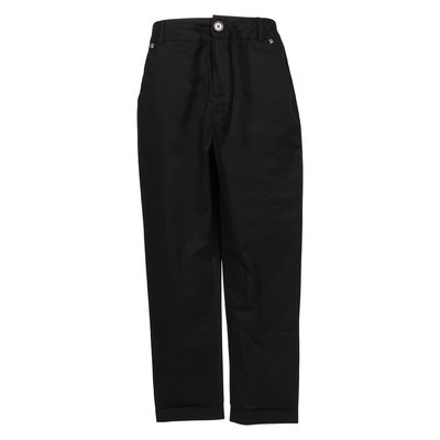 Black casual style cotton pants