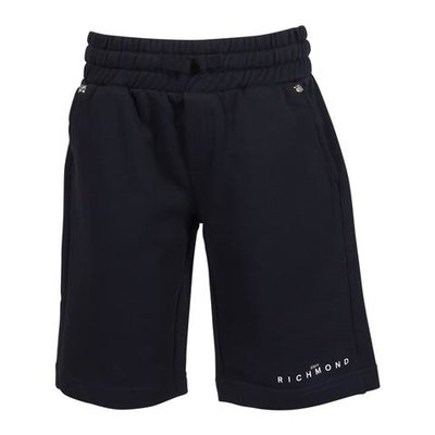 Shorts blu navy in felpa di cotone