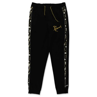 John Richmond black cotton sweat pants
