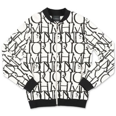John Richmond black & white cotton sweatshirt