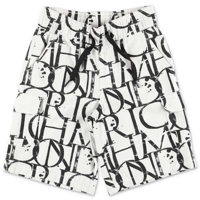 John Richmond white printed cotton gabardine shorts