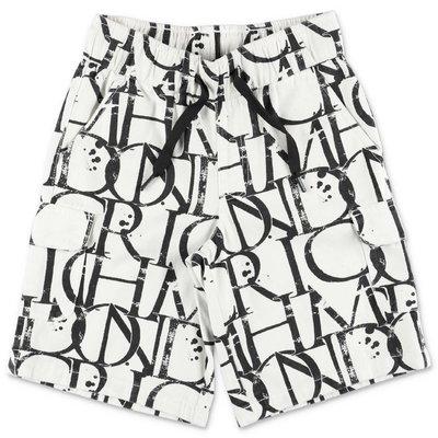 John Richmond shorts bianchi stampati in gabardina di cotone