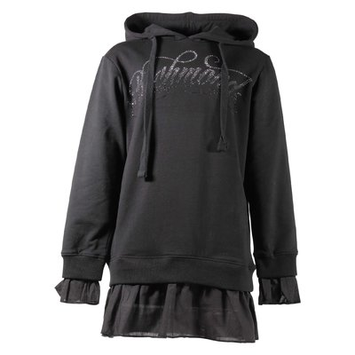 Black cotton sweatshirt hoodie