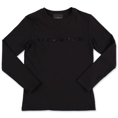 John Richmond black cotton jersey t-shirt