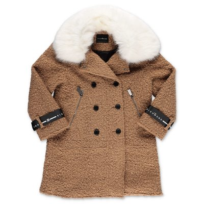John Richmond cappotto beige in ecoshearling