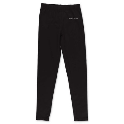 John Richmond black stretch cotton leggings