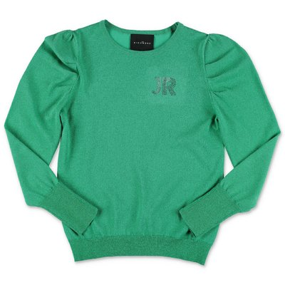 John Richmond green cotton blend jumper