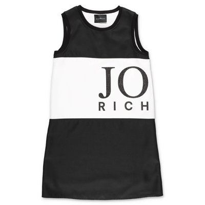 John Richmond black techno fabric dress