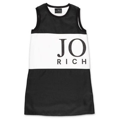 John Richmond abito nero in techno tessuto