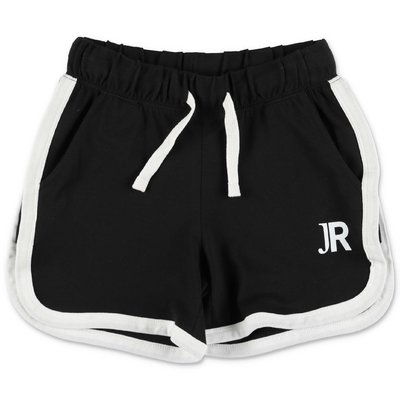 John Richmond shorts neri in jersey di cotone