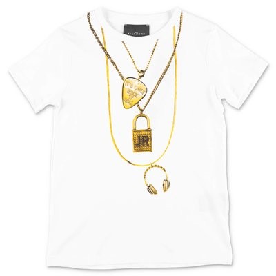 John Richmond white cotton jersey t-shirt