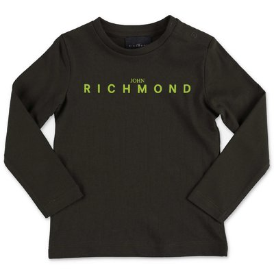 John Richmond military green cotton jersey t-shirt