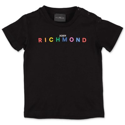 John Richmond t-shirt nera in jersey di cotone