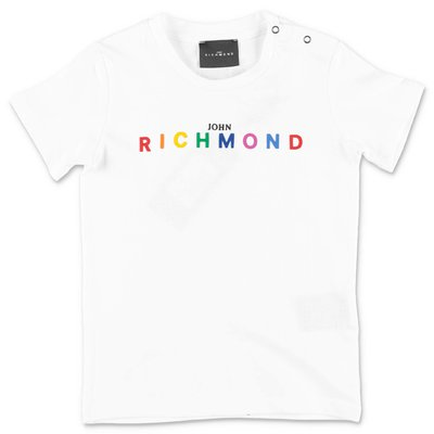 John Richmond t-shirt bianca in jersey di cotone