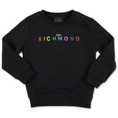 John Richmond black cotton sweatshirt