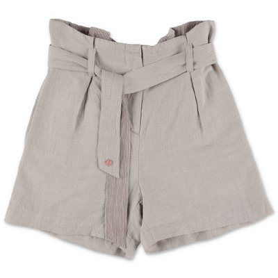 Bonpoint beige cotton & linen shorts